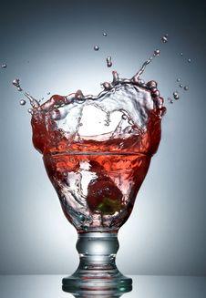 Strawberry  Juice Splash Royalty Free Stock Photo