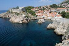 Rugged Coast Of Dubrovnik Croatia Royalty Free Stock Photos