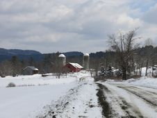 Vermont Winter Farm Stock Images