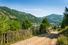 Free Wooden Fence In Mountains Stock Image - 30163281