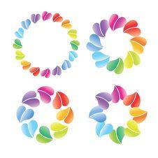 Free Logo Many Hearts Royalty Free Stock Images - 30163709