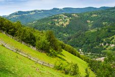 Free Wooden Fence In Mountains Stock Image - 30163781
