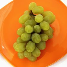 Bunch Of Grapes On A Light Background Royalty Free Stock Images