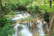 Free Deep Forest Waterfall In Kanchanaburi, Thailand Stock Image - 30166651