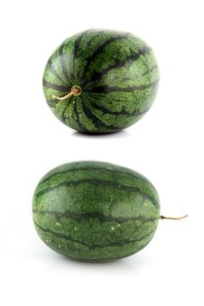 Free Two Action Watermelon On White Background. Stock Photo - 30166700