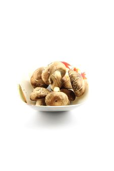 Free The Shiitake Mushrooms On The Dish. Royalty Free Stock Photo - 30168315