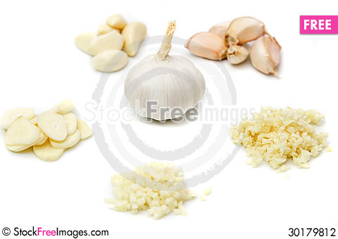 Free Prepare Garlic For Cooking Stock Photography - 30179812