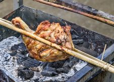 Free Roasted Chicken Skewer - Asian Style Stock Photos - 30172823