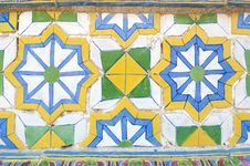 Colorful Vintage Ceramic Tiles Wall Royalty Free Stock Images