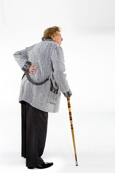 Old Man With A Cane Royalty Free Stock Photography