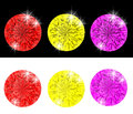 Free Set Of Colored Diamonds Stock Photos - 30181713