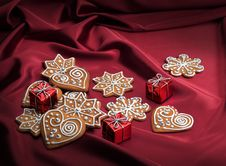Free Decorated Christmas Gingerbreads Stock Photo - 30181520