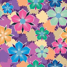 Free Floral Seamless Background. Royalty Free Stock Photography - 30182477