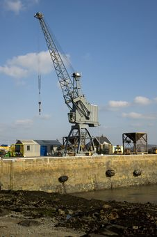 Free Dockyard Crane On A Jetty. Guernsey Royalty Free Stock Photo - 30182625