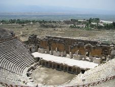 Ruins Of An Ancient Theatre Stock Images