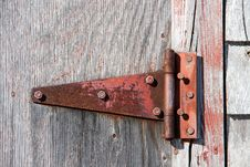 Rusty Red Hinge Stock Photos