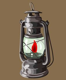 Free Oil Lamp Royalty Free Stock Photo - 30187845