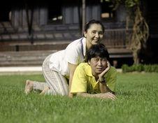 Free Beautiful Senior Couple In Park Stock Photo - 30189200
