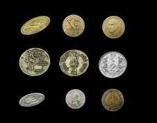 Free Different Currency Coins Stock Images - 30189644