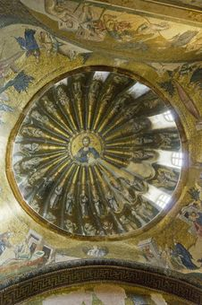 Dome In The Chora Museum In Istanbul Royalty Free Stock Photos