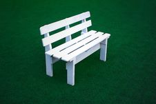 Free Bench On Green Field Stock Images - 30190014