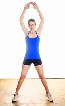 Woman Stretching Stock Photos