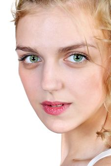 Free Close Up Portrait Of A Young Blonde  Woman Stock Photography - 30194912