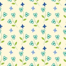Free Seamless Floral Pattern Stock Photos - 30195843