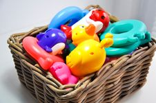 Toys Basket Stock Photography
