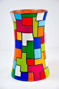 Free Colorful Vase Royalty Free Stock Photography - 30197327