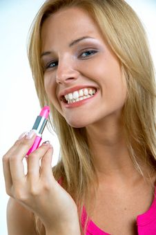 Free Girl With Pink Lipstick Stock Photos - 3020023