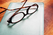 Free Glasses On A Book Stock Photography - 3020092