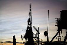 Shipyard Cranes Stock Photography