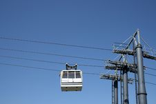 Cable Car Going Up Stock Image