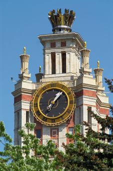 Free Clock Of The Moscow State Uni Stock Photos - 3022263