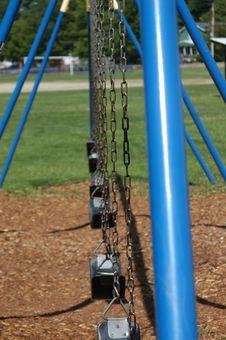 Blue Swing Set