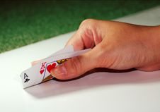 Ace King In Hand Royalty Free Stock Image