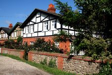 English Rural Cottages Royalty Free Stock Photos