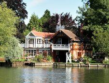 Riverside Boathouse Stock Photography