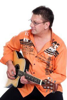 Free Man And Guitar Royalty Free Stock Photos - 3023998