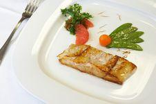 Free Grilled Salmon Stock Photo - 3024410