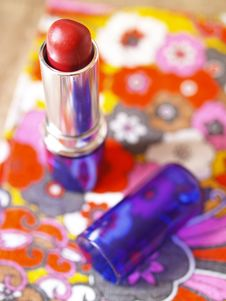 Lipstick In Bright Stock Photography