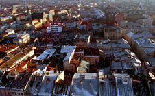 Lvov. Old City Center Stock Photo