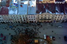 Free Lvov. Square Below Town Hall Stock Photography - 3025142