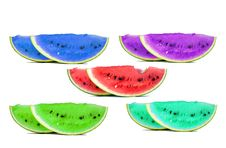 Free Colorful Water Melons Isolated Royalty Free Stock Photo - 3025995