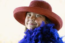 Free Young Lady In Red Hat Stock Photos - 3026473
