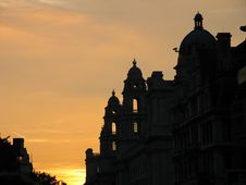 Free Palace Against Sunset Stock Photo - 3026910