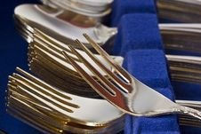 Free Gold Fork Stock Image - 3027791