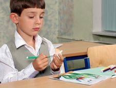 Free Schoolboy Drawing Stock Photography - 3028212