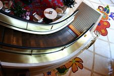 Free Escalator From Above Royalty Free Stock Image - 3028676